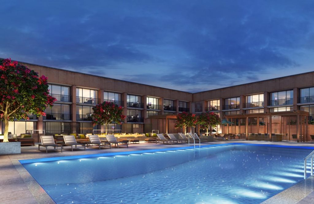 Rendering of the Pool Area opening soon at our Hilton National Mall Hotel.